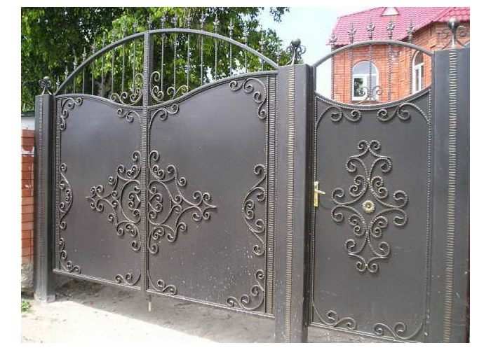 Ворота кованые сделать своими руками фото